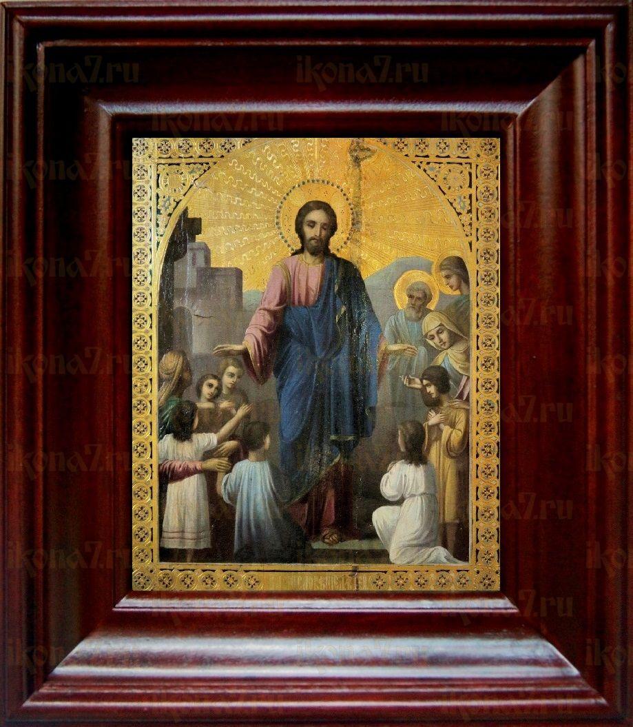 Иисус Христос и дети (21х24), простой киот