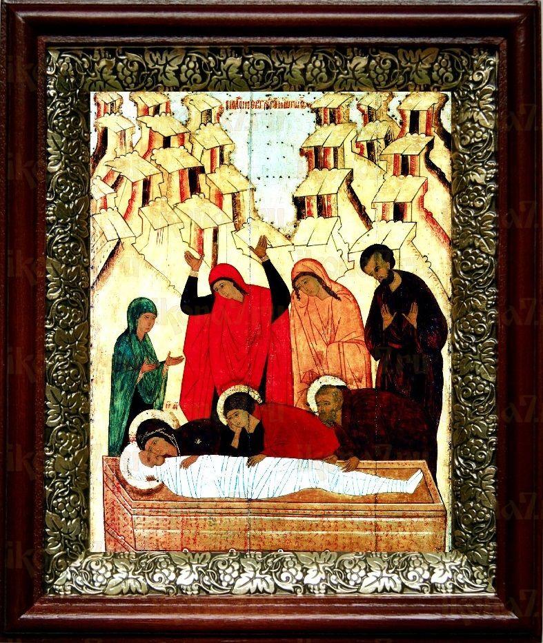 Положение во гроб (19х22), темный киот