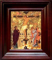 Распятие Христа (21х24), простой киот