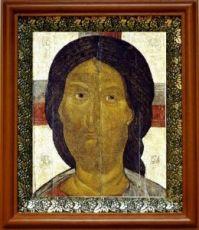 Спас Ярое Око (19х22), светлый киот