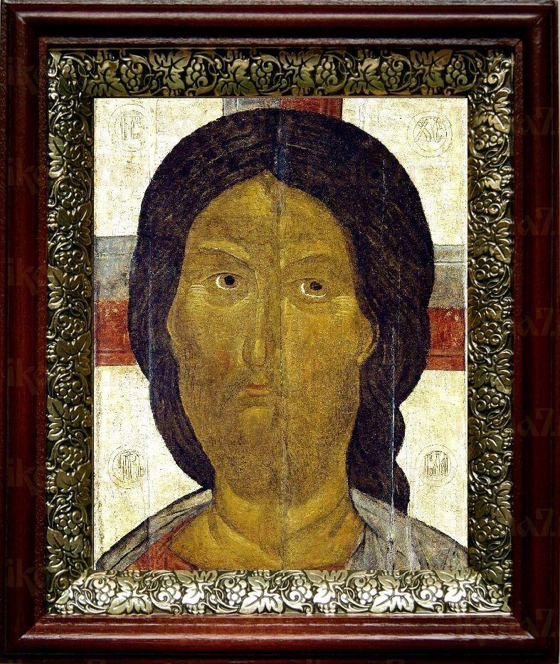 Спас Ярое Око (19х22), темный киот