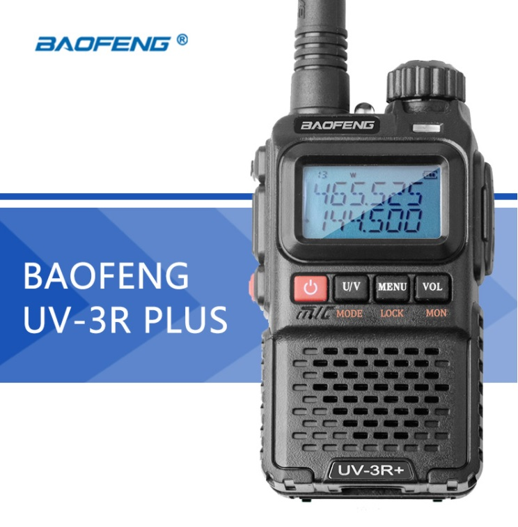 Рация Baofeng UV-3R Plus с гарнитурой