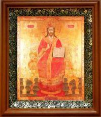 Царь Царем (19х22), светлый киот