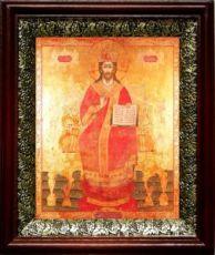 Царь Царем (19х22), темный киот