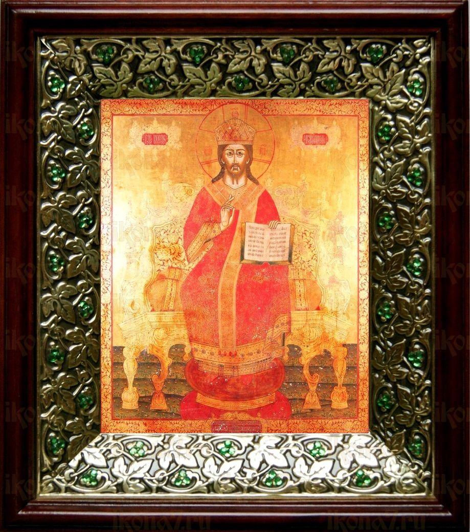 Царь Царем (21х24), киот со стразами