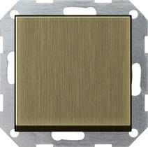 Gira S-55 Бронза Переключатель с клавишей самовозвр. перекрестный(0127603)