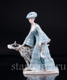 Девушка с зонтиком и догом, Goebel, Германия, нач. 20 в., артикул 03108