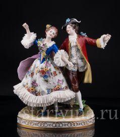 Танцующая пара, кружевная, Volkstedt, Германия, вт. пол. 20 в., артикул 03132