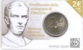 2000 лет со смерти Тита Ливия 2 евро Италия 2017   BU