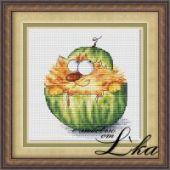 "Cross stitch pattern ""Tum-Melon""."