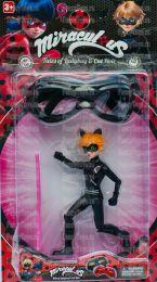 """Игровой набор кукла Андриан в образе Черного кота """"Леди Баг и Супер Кот"""" + маска (Miraculous Cat Noir)"""