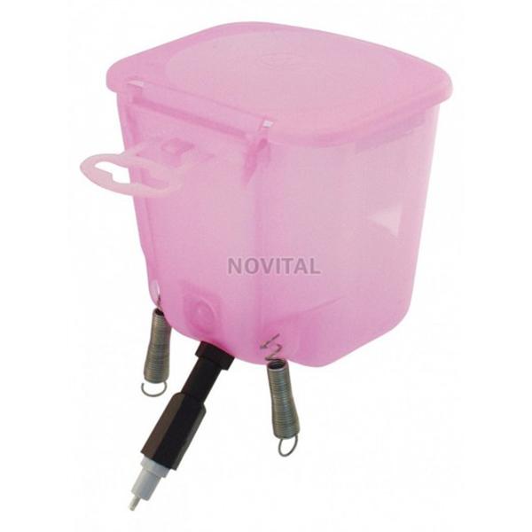 Ниппельная поилка с бачком 0,5л розовая