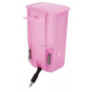 Ниппельная поилка с бачком 1 л розовая