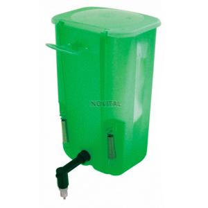 Ниппельная поилка с бачком 1 л зеленая