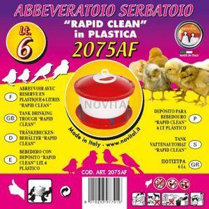 Поилка с крышкой RAPID CLEAN 6 л для цыплят