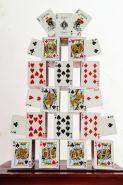 Карточный замок Card Castle - Bicycle Standard (красный) (пр-во Россия)