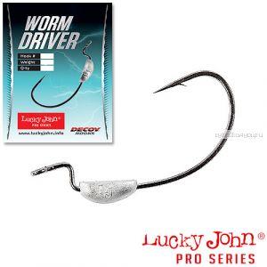 Крючок офсетный Lucky John Worm Driver ( упаковка 4 шт)