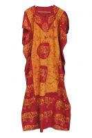 Оранжевое с красным длинное платье свободного размера. купить в Москве. Цена 1350 руб. Интернет магазин