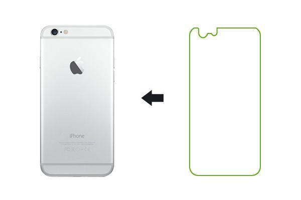 Защитная пленка Ainy для Apple iPhone 6/6S матовая (задняя)
