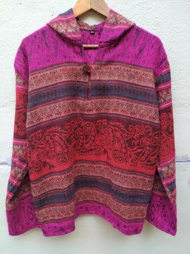 Длинная тёплая непальская кофта (пуловер), унисекс (Санкт-Петербург)*
