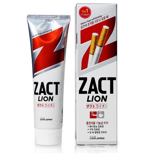 """CJ Lion  Зубная паста """"Zact"""" с эффектом отбеливания кофейного и никотинового налета,150 гр.."""
