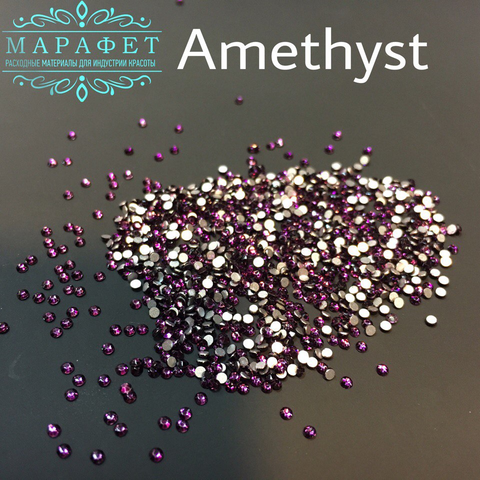 Стразы SS3 стекло (Amethyst) 1440шт.