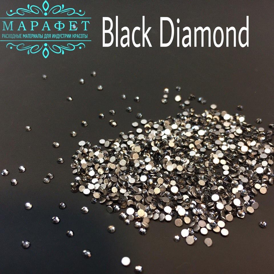 Стразы SS3 стекло (Black Diamond) 1440шт.