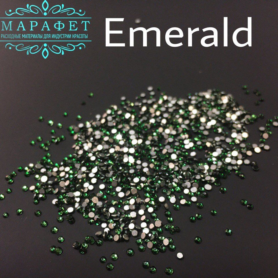 Стразы SS3 стекло (Emerald) 1440шт.