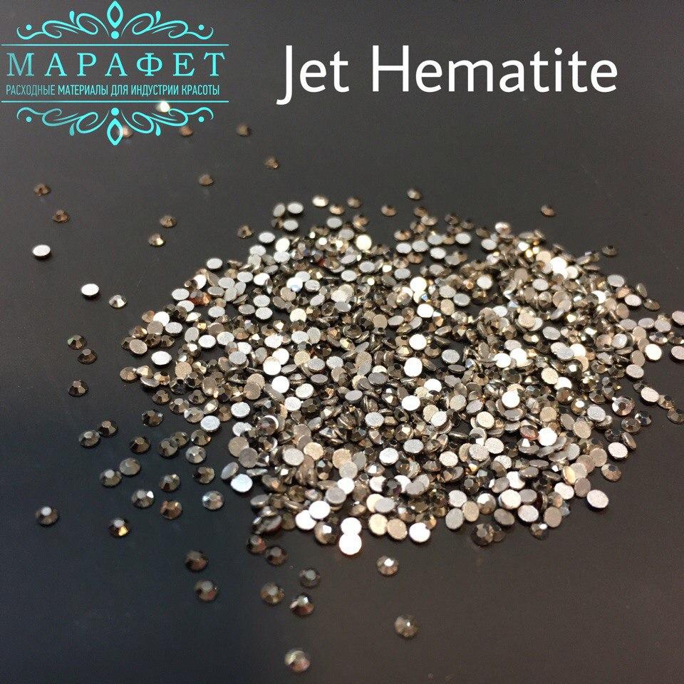 Стразы SS3 стекло (Jet Hematite) 1440шт.