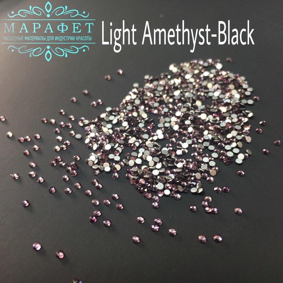 Стразы SS3 стекло (Light Amethyst-Black) 1440шт.