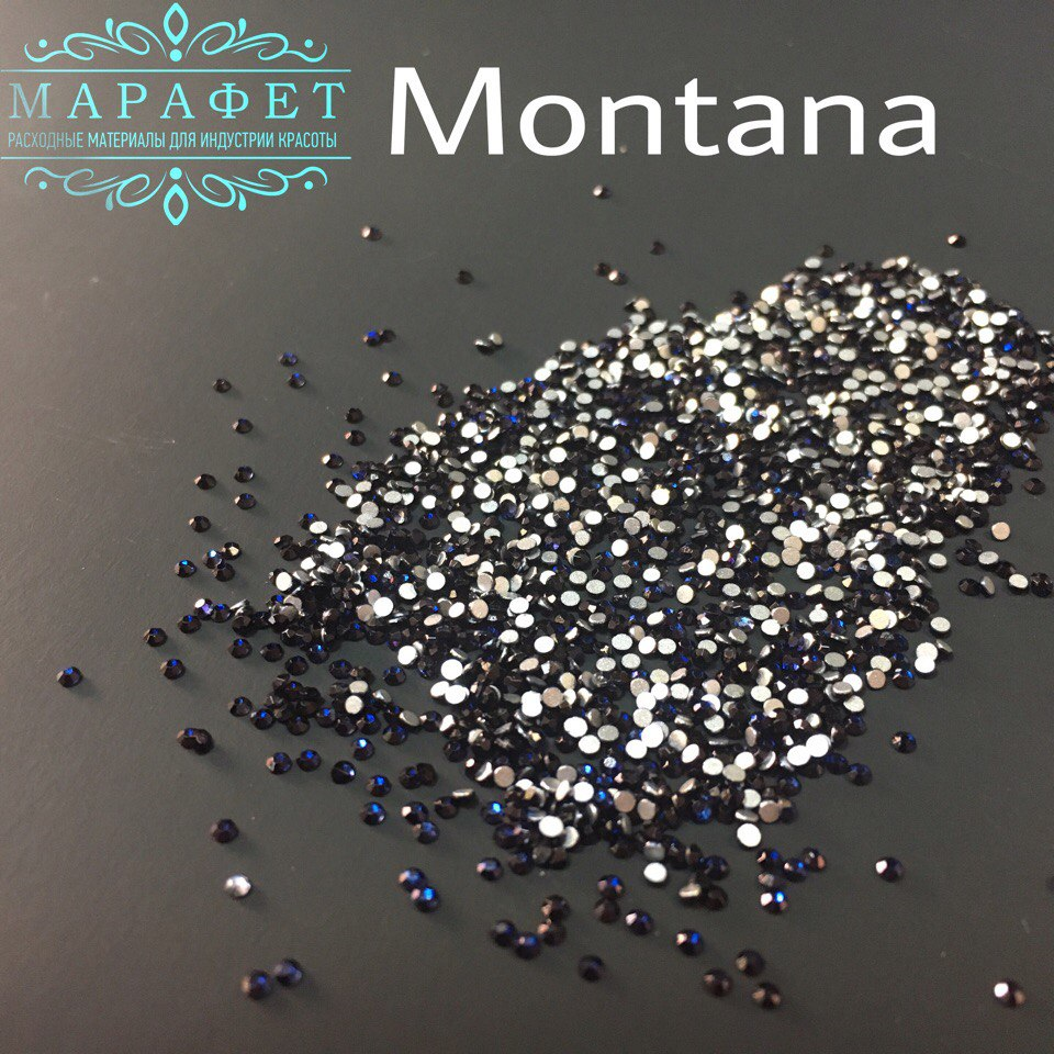 Стразы SS3 стекло (Montana)1440шт.