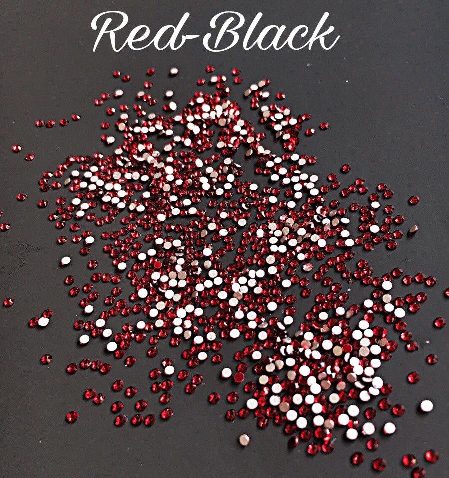 Стразы SS3 стекло (Red-Black) 1440шт.