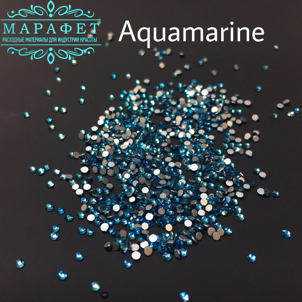Стразы SS4 стекло (Aquamarine) 1440шт.