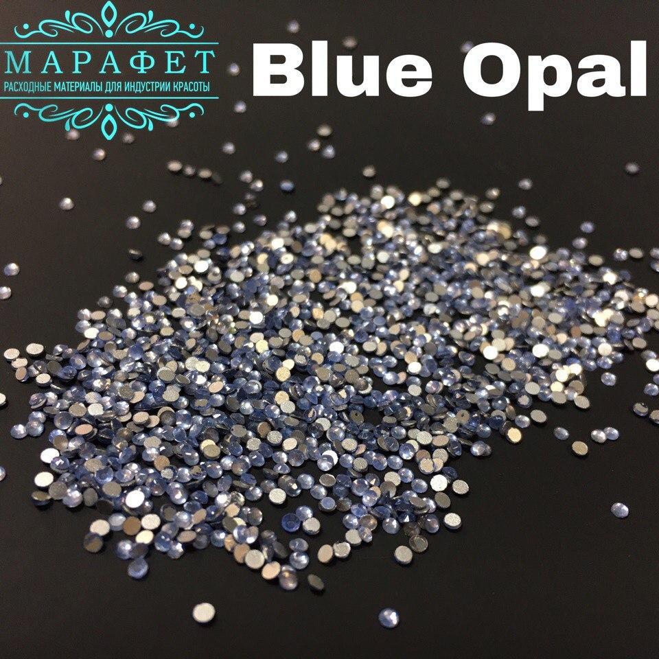 Стразы SS4 стекло (Blue Opal) 1440шт.