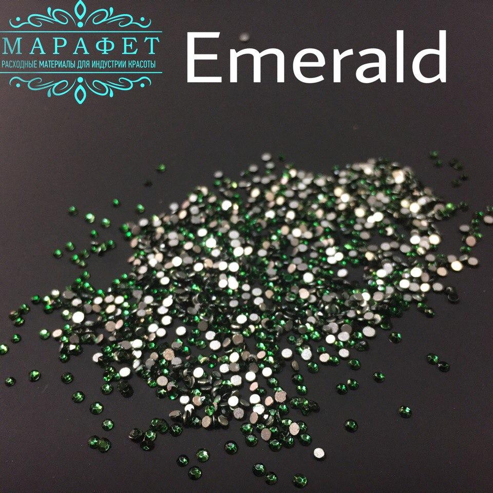 Стразы SS4 стекло (Emerald) 1440шт.