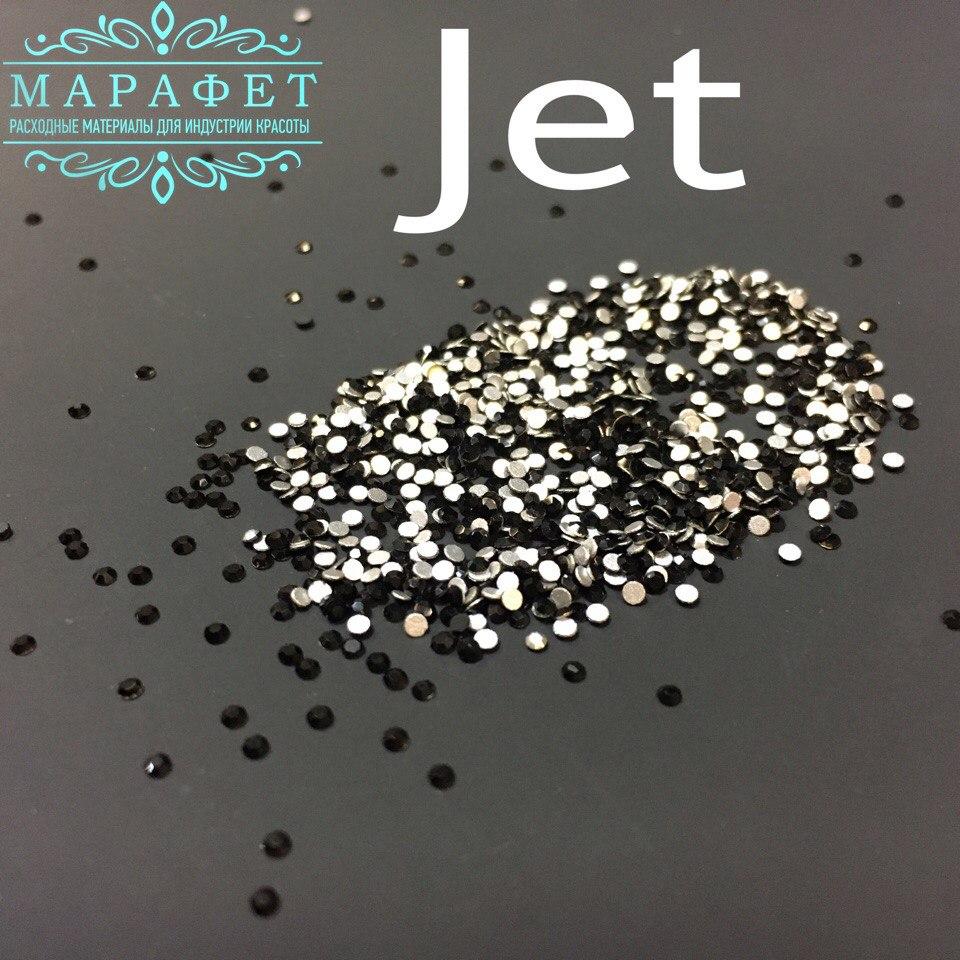 Стразы SS4 стекло (Jet) 1440шт.