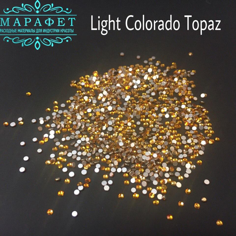 Стразы SS4 стекло (Light Colorado Topaz) 1440шт.