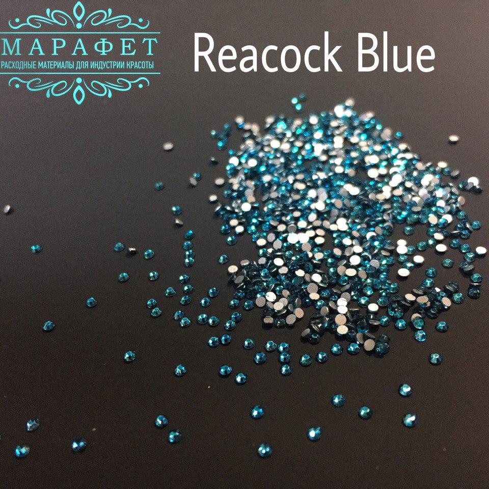 Стразы SS4 стекло (Peacock Blue) 1440шт.