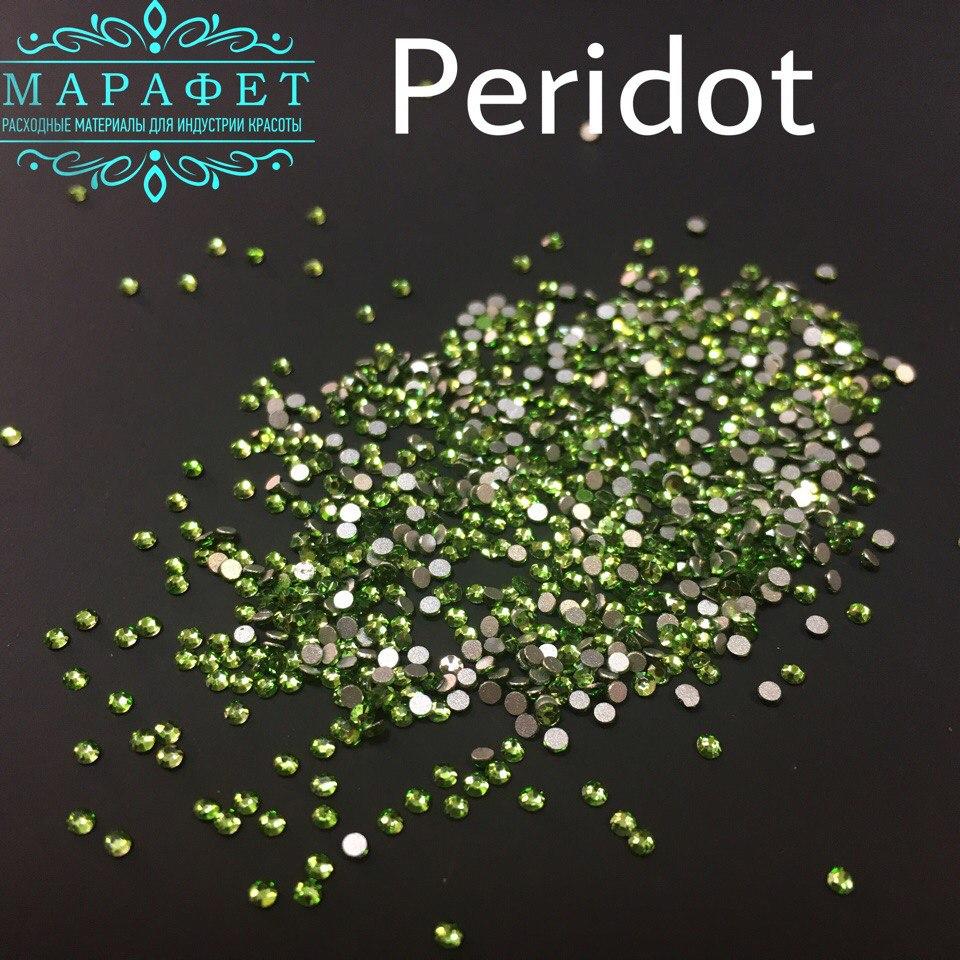 Стразы SS4 стекло (Peridot) 1440шт.