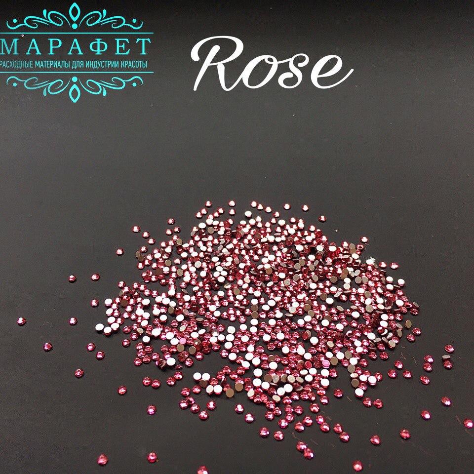Стразы SS4 стекло (Rose) 1440шт.