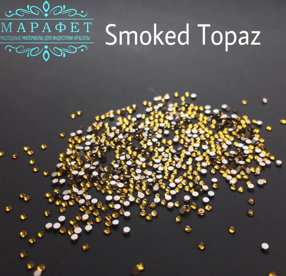 Стразы SS4 стекло (Smoked Topaz) 1440шт.