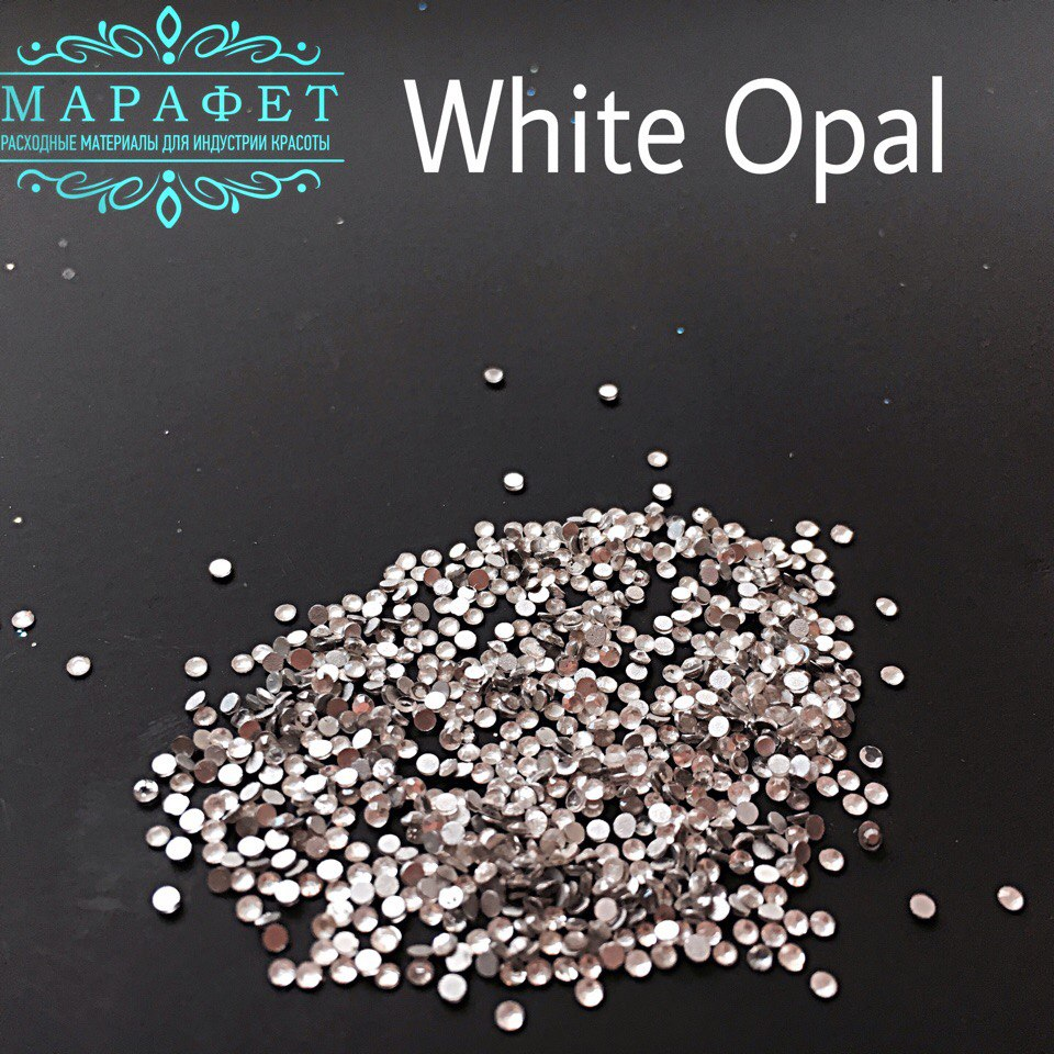 Стразы SS4 стекло (White Opal) 1440шт.