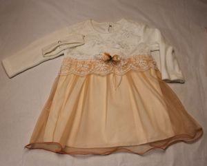 Платье с длинным рукавом + повязка для головы (велюр + сетка)