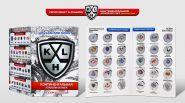 Набор 1 рубль 2014 года (КХЛ) Континентальная Хоккейная Лига 2017-2018, цветные + альбом