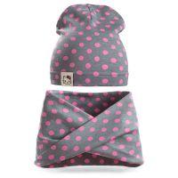 Комплект шапка и снуд для девочки 3-5 лет №SG104