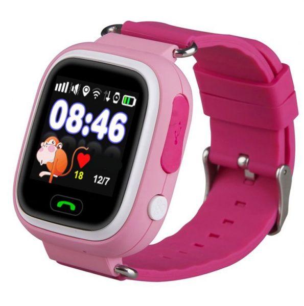 Smart часы детские с GPS GP-01 Розовые *
