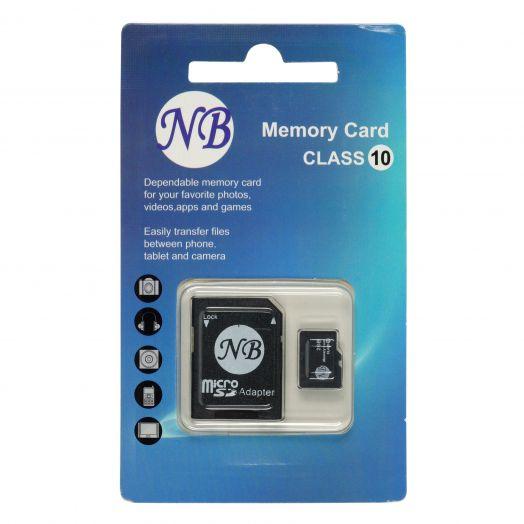 Карта памяти microSD 16 Gb NB (с адаптером SD)