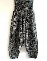 черно белые индийские штаны алладины с широкой резинкой, Москва