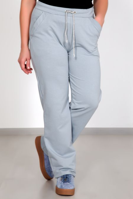 Спортивные женские брюки, голубые