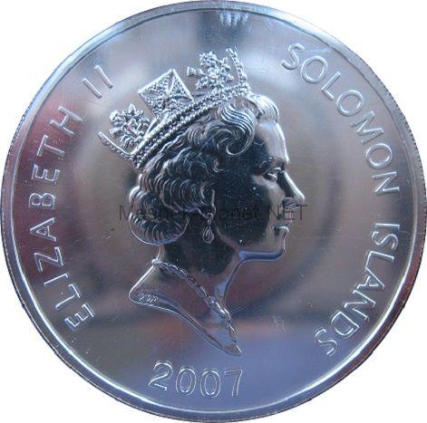 5 долларов 2007 года Соломоновы острова. Год свиньи